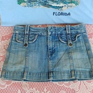 Citizens of Humanity Sz 26 faded jean mini skirt